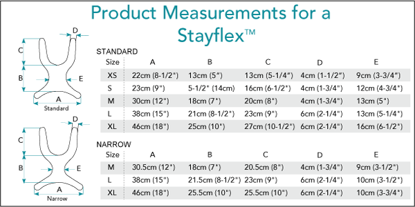 Measurement for Stayflex Chest Support